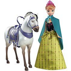 Quando a Anna vai à procura da sua irmã Elsa, vai no seu cavalo para cruzar os bosques com neve e tenta convencer a Elsa a descongelar o reino de Arendelle.