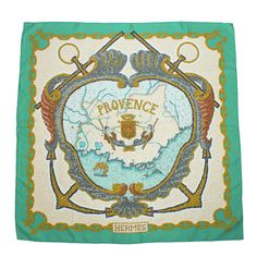 1990s Hermes 'Provence' Silk Scarf | From a collection of rare vintage scarves at https://www.1stdibs.com/fashion/accessories/scarves/