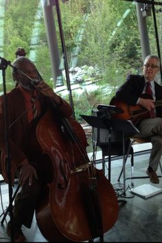 Enjoyed a lovely dinner at Crystal Bridges with these gentlemen. Walter Savage on Bass.