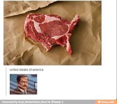United Steaks of America... would you like pink, medium or well done? #steaks #funny #mindblown #USA