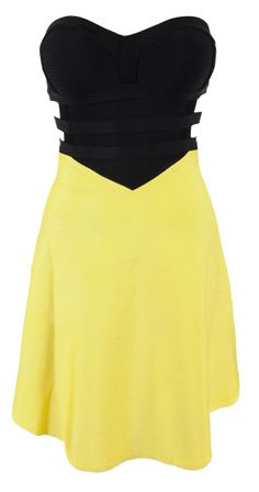 Katie Black & Yellow Bandage Skater Dress- dont necessarily like the color but I like the style