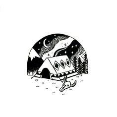 고요한 밤 #tattoo #tattoos #opiumtattoo #sketch #drawing #blacktattoo #illust #illusttattoo #nature #space #일러스트 #타투 #홍대타투 #컬러타투 #라인타투 #도안 #타투도안 #블랙타투 타 by rlt