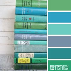 Vintage Volumes. Beautiful blue and green color palette. We love helping people make fabulous websites: www.fasteasywebsites.com