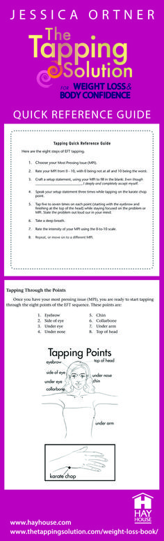 Pin this now and come back to use it as a guide later! This method is simple, effective, and FREE! #thetappingsolution #weightloss #JessicaOrtner