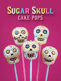 Sweet Sugar Skull cake pops. These are a fun little project celebrating Day of the Dead that I...