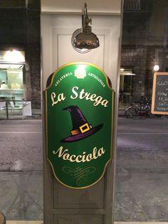 Gelateria La Strega Nocciola, unusual gelato!