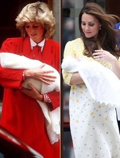 The royals as babies - Princess Diana in 1984 and Kate Middleton ...