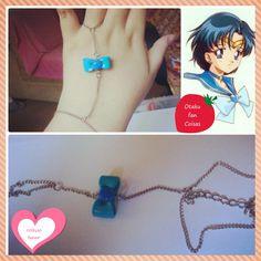 ~ Coleção Lunar ~ <br> <br>Pulseira de Mão da Sailor Mercury. Apenas 1 unidade disponível!!