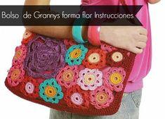 Haz tu primer Bolso de crochet con flores granny