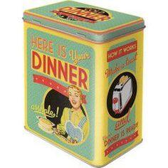 Nostalgic Μεταλλικό κουτί μεγάλο Here is Your Dinner