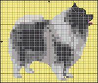 Keeshond Cross Stitch Charts, Cross Stitch Patterns, Embroidery Patterns, Quilt Patterns, Crochet Dog Clothes, Dog Crafts, Bead Loom Patterns, Cross Stitch Animals, Beaded Animals