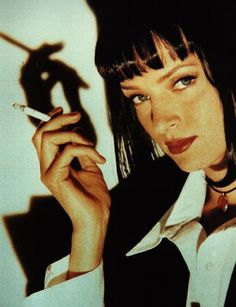 Pulp Fiction | Pulp Fiction Bilder - Mia mia_02 Uma Thurman Pulp Fiction, Pulp Fiction Zitate, Popcorn Times, Book Show, Bad Habits, Rolling Stones, Little Babies, Actors & Actresses, Movie Tv