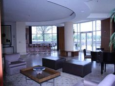 Spacious living area downstairs in two story penthouse ..