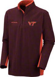 Virginia Tech Hokies Columbia Klamath Range II 1/4 Zip Fleece Jacket. Good for my husband!