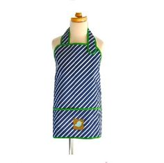Apron Smock Navy Stripe $21.95 #sweetcreations #baby #toddlers #baby #art #smock #apron