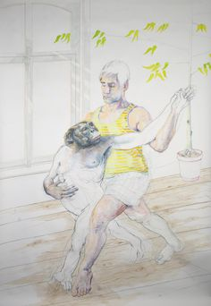 Wim Waumans - Kleurpotloodtekening - Tango Any Images, Tango, Les Oeuvres, Contemporary Art, Give It To Me, My Love, Sketches, 2d, Create