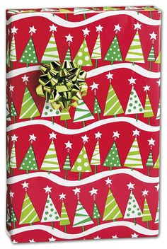 Holiday Gift Wrap - Christmas Tree Rock Gift Wrap, 24' x 417' (1 roll) - BOWS-M-4248H ** Click image to review more details.