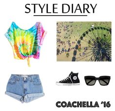 """Coachella"" by music-lover16 ❤ liked on Polyvore featuring Levi's, Converse, Yves Saint Laurent and packforcoachella"