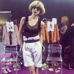backstage at London Fashion Week, with 💌💌💌 London Fashion, High Fashion, Fashion Eyewear, Models Off Duty, Backstage, Cuffs, Short Dresses, Women Wear, Footwear