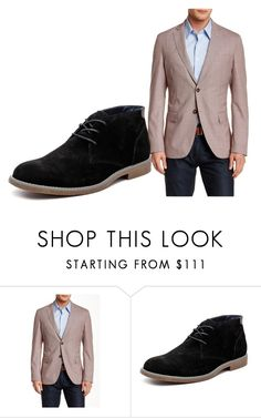 """""""GANG Convention"""" by becca-garza on Polyvore featuring Brooks Brothers, Hush Puppies, men's fashion and menswear"""