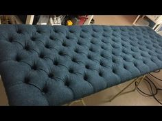 How to Make a Tufted Headboard - YouTube