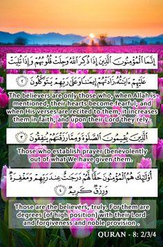8:2/3/4 verses from #QURAN <3