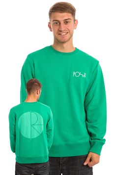 Polar Skateboards Fill Logo Behind The Curtain Sweatshirt (green)