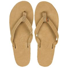 a811d2b6adbe The Rainbow Sandals Single Layer Narrow Strap Women s Sandals in the Brown  color way feature a
