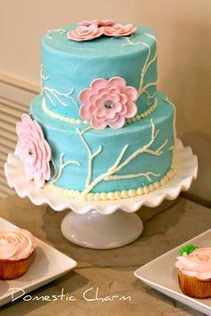 blue pink cake