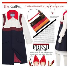 """""""Fall Style With The RealReal: Contest Entry"""" by meylimayli ❤ liked on Polyvore featuring Prada, Oris, Valentino, Lancôme and Kevyn Aucoin"""