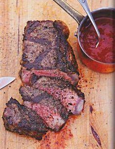 Rezept von Johann Lafer Mariniertes Entrecote mit BBQ-Whisky-Sauce aus dem Kochbuch Johann Lafer Meine besten Grillrezepte 2015 GU Rub Barbecue Steak Grill