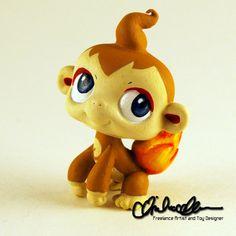 Custom Littlest Pet Shop Chimchar from Pokemon