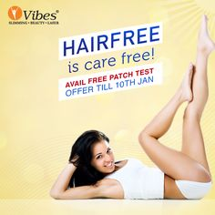 Come out of that daily trauma of waxing and shaving. Flaunt your smooth and beautiful #skin with #LaserHairRemoval treatment. Book your appointment today and get exciting discounts!