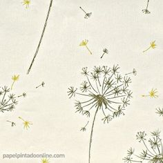 Papel pintado ENVOL CNP_5856_12_22 Leaf Tattoos, Texture, Pillows, Wallpaper, Ideas, Painted Flowers, White Flowers, Paper Envelopes, Home
