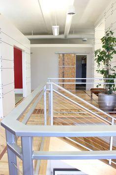 Ensignal Headquarters – Walls + wooden barn door