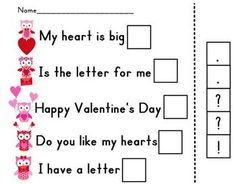 From YOUNG & LIVELY KINDERGARTEN - FREE  Use this cut & paste worksheet to practice using correct punctuation.
