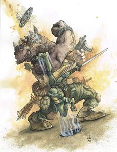 Teenage Mutant Ninja Turtle Commission on Behance