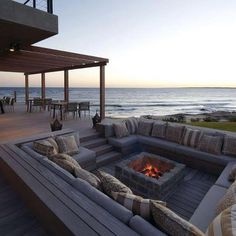 Outdoor fire pit. Ocean view doesn't hurt either. :)
