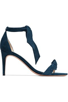 Clarita knotted suede sandals   ALEXANDRE BIRMAN   Sale up to 70% off   THE OUTNET