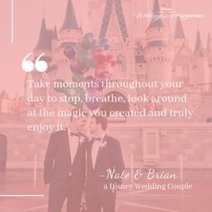 Sometimes you meet a couple and their relationship (and love story! The couple celebrated their wedding at Walt Disney World in Florida. Wedding Quotes, Wedding Advice, Wedding Couples, Wedding Stuff, Wedding Ideas, Yacht Wedding, Dream Wedding, Disney World Florida, Welcome To The Party