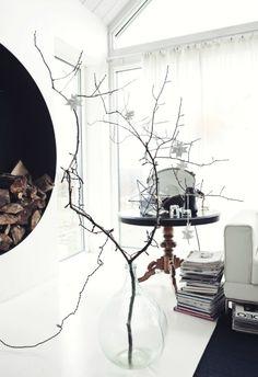ANNALEENAS HEM // home decor and inspiration: A SIMPLE CHRISTMAS BRANCH