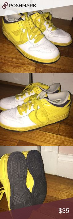 the latest ecee1 bb14c Nike Yellow Low Dunks
