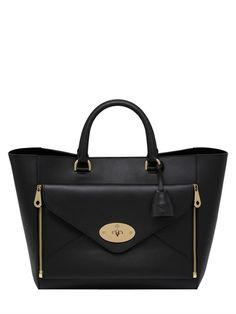 MULBERRY - WILLOW SILKY CLASSIC LEATHER TOP HANDLE - LUISAVIAROMA - LUXURY SHOPPING WORLDWIDE SHIPPING - FLORENCE