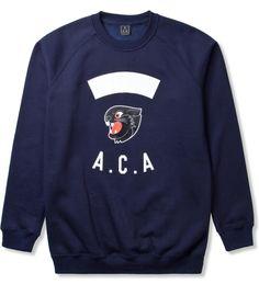 A Cut Above Navy Panther Crewneck  #streetwear, #aca, #barriach