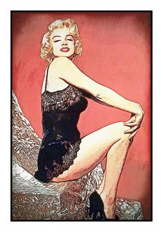 Marilyn Monroe: Art That Makes Your Brain Happy! An Art Work of Classic Movie Star Marilyn Monroe by Dan Newburn of the Morgan-Newburn Foundation for the Arts, Las Vegas, Nevada.