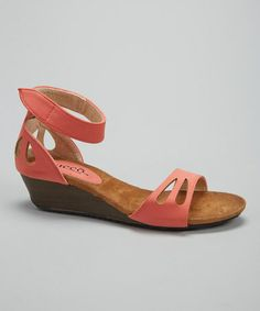 Love this Coral Pastas Wedge Sandal by Bucco on #zulily! #zulilyfinds
