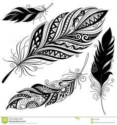 ilustraciones de plumas - Buscar con Google Más
