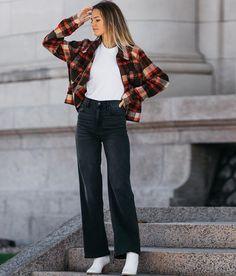 Hyfve Plaid Fleece Jacket - Women's Coats/Jackets in Brown | Buckle Coats For Women, Jackets For Women, Closet Renovation, Women's Coats, Bell Bottoms, Bell Bottom Jeans, Plaid, Brown, Pants