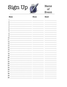 Printable Sign-In Sheet - Employee or Visitor Form | Organizers ...