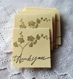 Handmade Greeting Card: Mini Thank You notes Set by WallridgeFarm